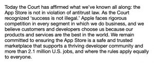 Apple's Response to Judge's Ruling